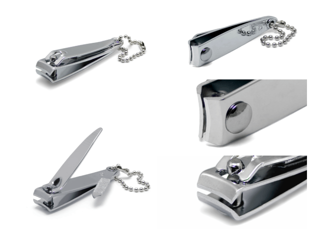 Nail clippers made of stainless steel