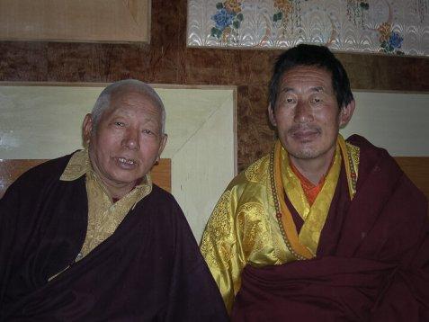 Lama Teunsang et Chokling Rinpotché