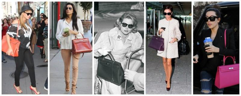 Today, the chic Kelly bag is a favourite of celebs like Beyonce, Eva Longoria, Victoria Beckham, and Kim Kardashian.