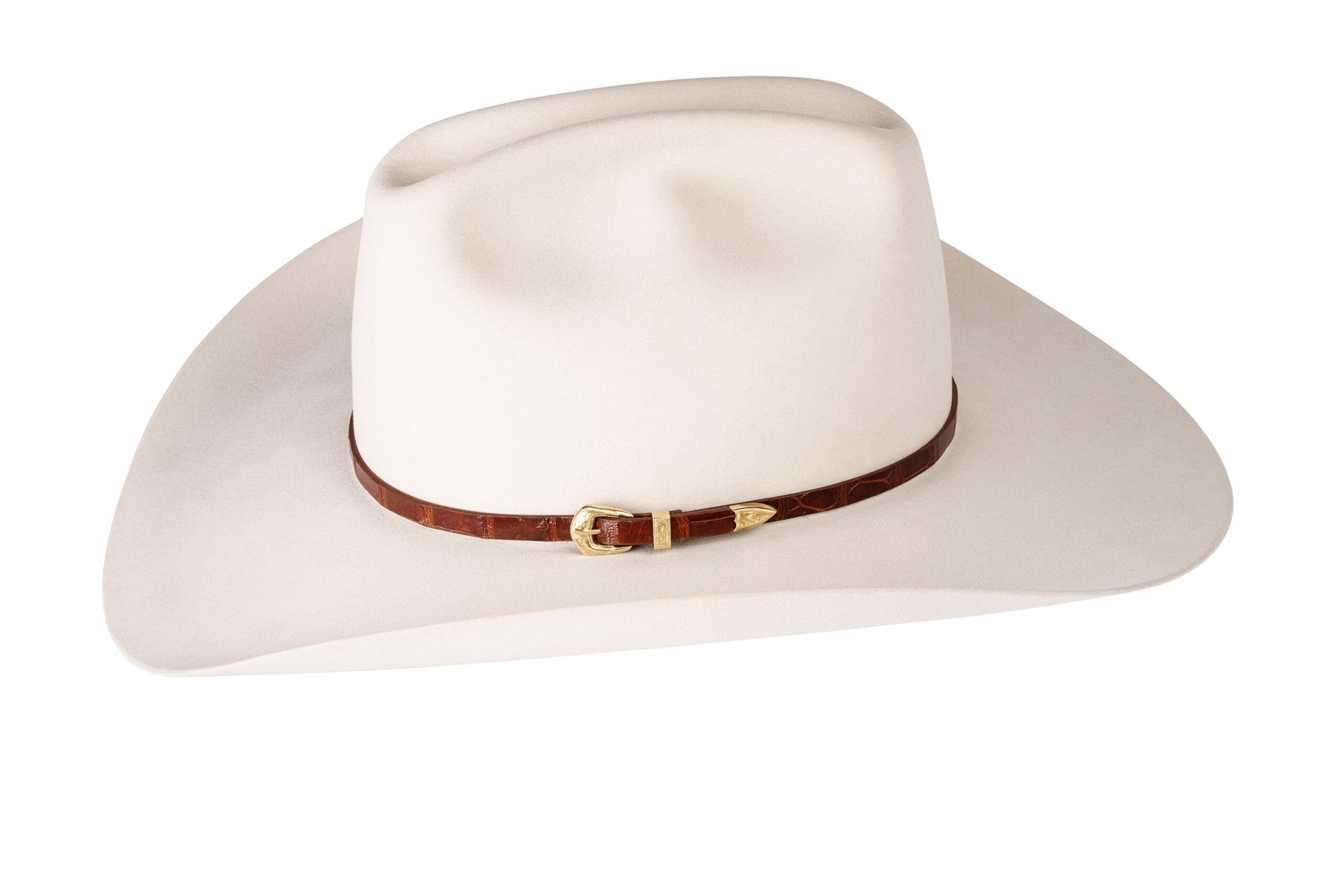 Kallas 18K Gold Engraved Buckle Hat Band