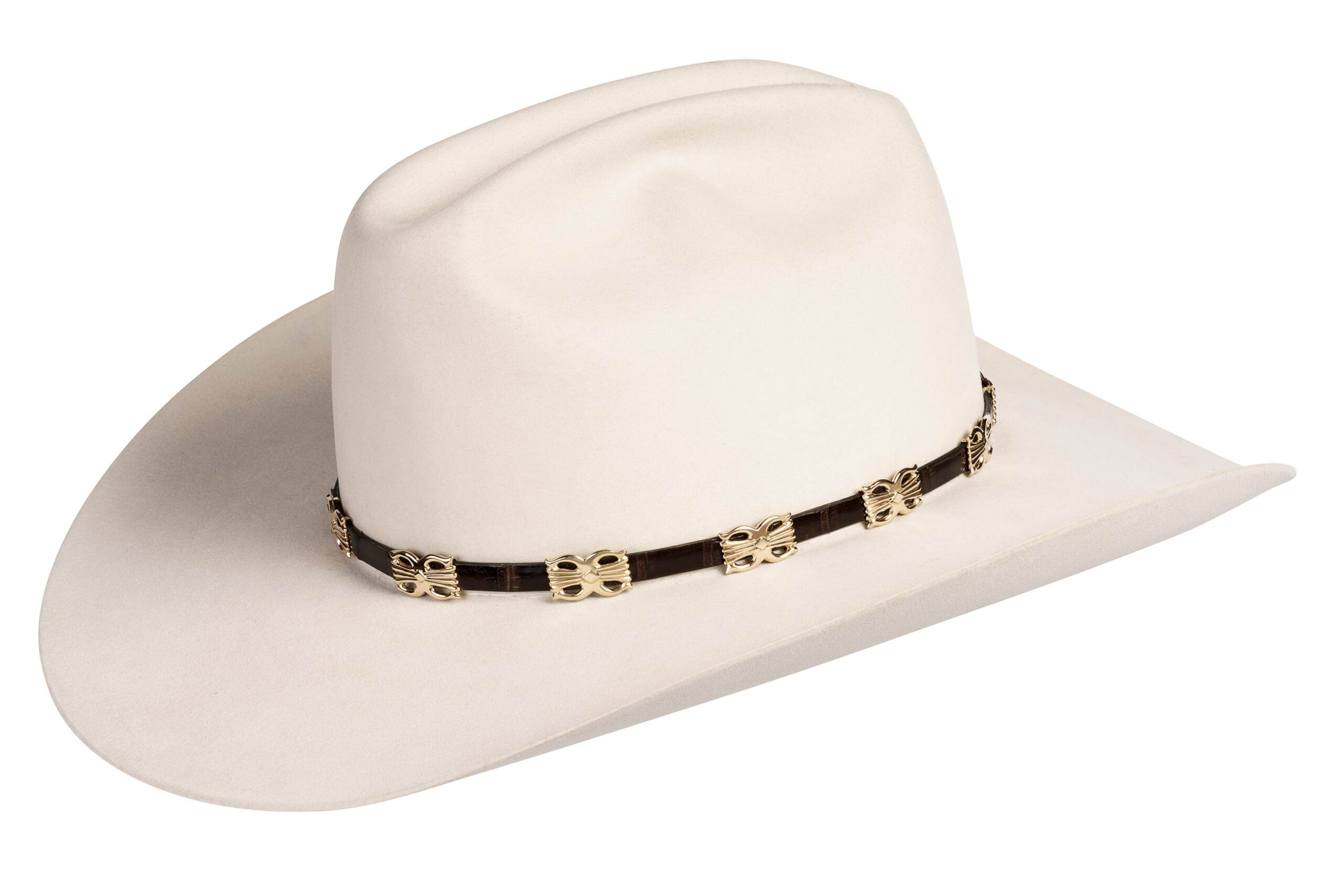 Sand Cast Tabaha Butterfly Concho Hat Band