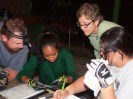 Jason, Tali, Gail, and Ashley record bat data