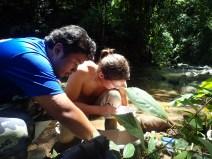John and Steve measure fish