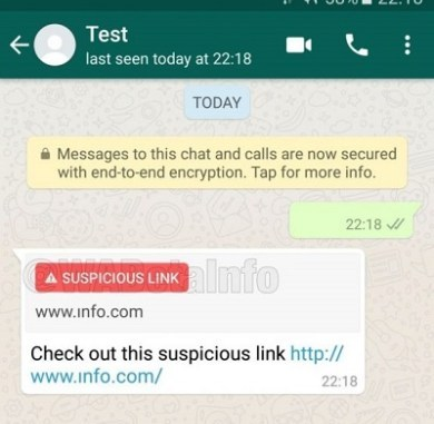 New WhatsApp Updates to Have Suspicious Link Detector
