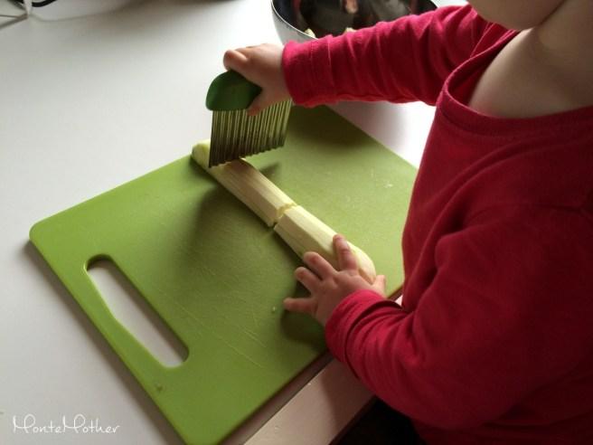 Montessori krajanie cukety 2