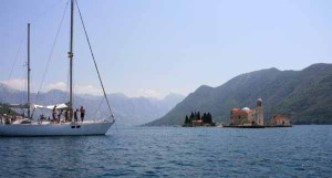 Guests enjoying Yacht Monty B near Perast Montenegro