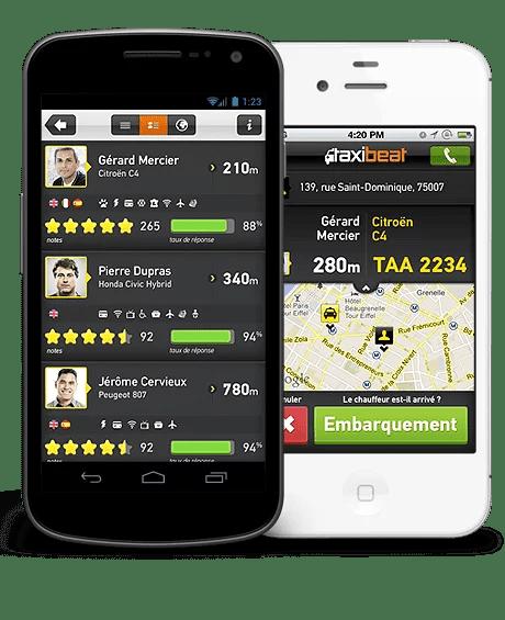 Trouver un taxi sur votre mobile !