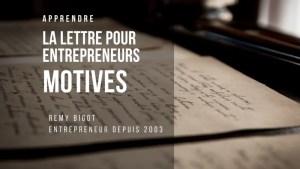 lettre pour entrepreneur