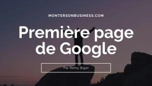 première page de google entreprise