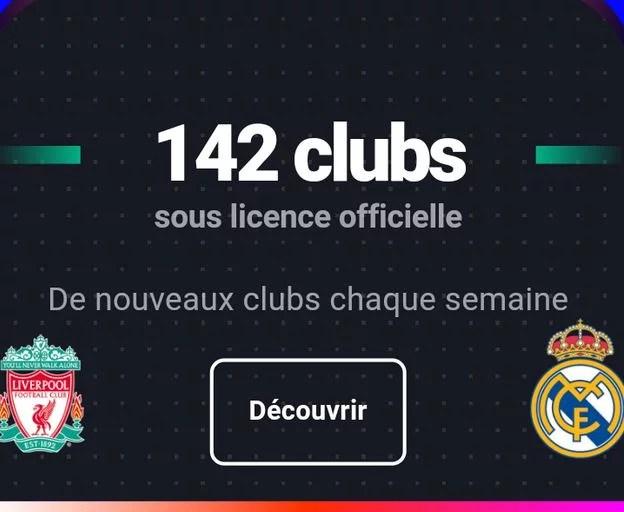 142 clubs officiels dans Sorare