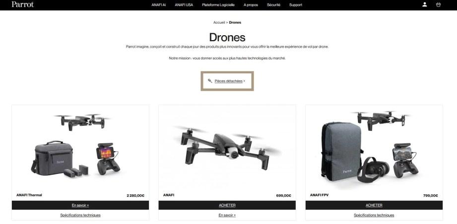 Offres de drones Parrot