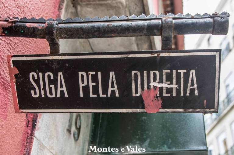 Em que rua de Lisboa podemos encontrar esta indicação de trânsito?