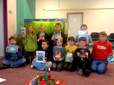 Montessori Grundschule KW_2. Platz beim Gewinnspiel des Bücher-Igels_2017