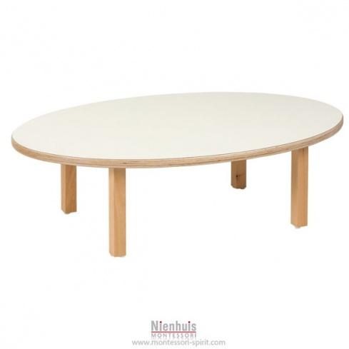 table enfant ovale