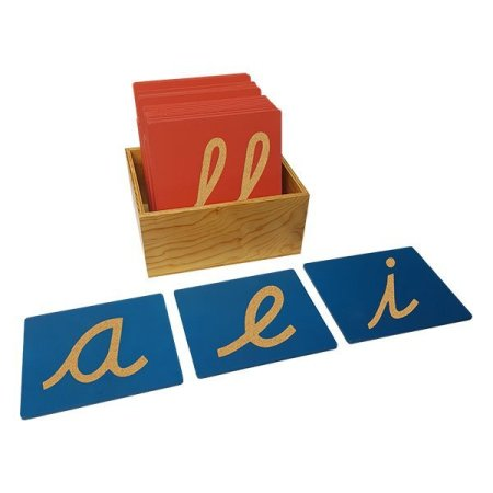 Letras de lija montessori para enseñar a leer