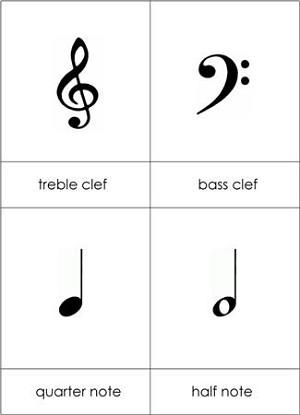 Musical Notes & Symbols Nomenclature Cards