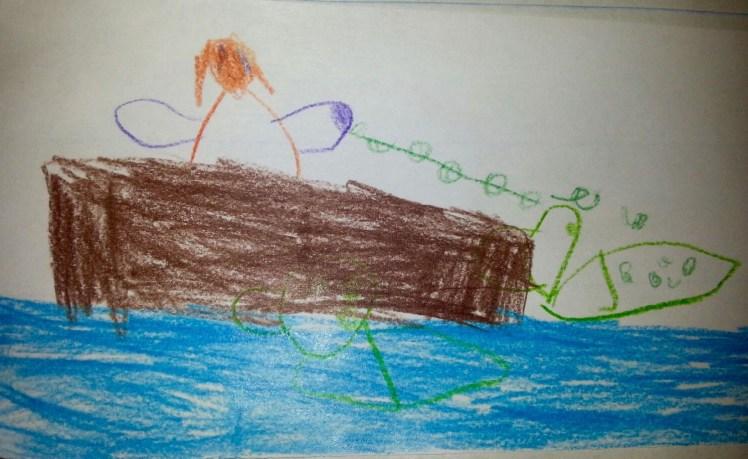 Tsimshian story of how loon got its spots