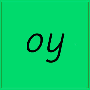 oy sound with letters