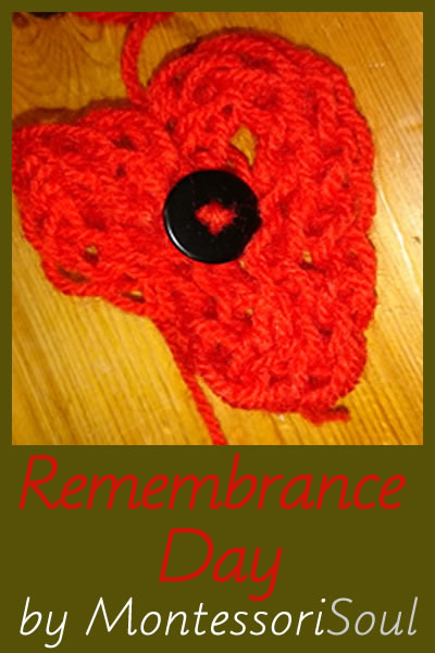 Remembrance Day - Including finger knitted Poppy tutorial