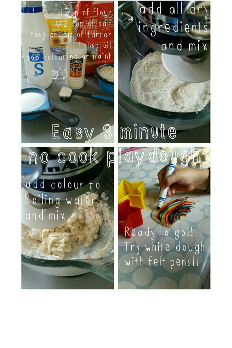 My go to no cook playdough recipe