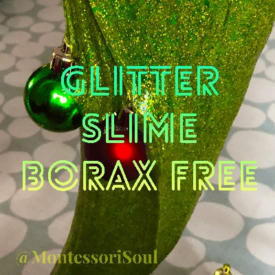 Glitter Slime - Borax Free - 4 simple ingredients