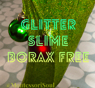 Glitter borax free slime