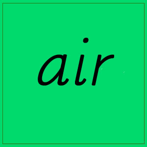air sound with letters