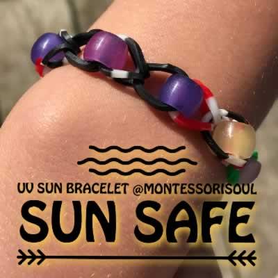 Sun Safety for Kids with UV Bracelets