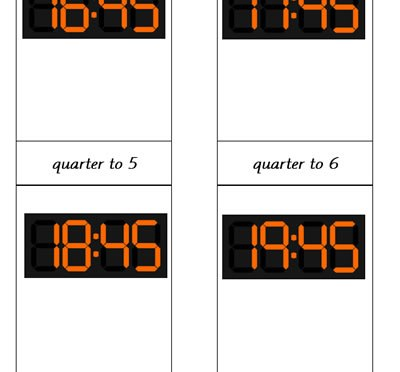 Digital Clocks (Quarter to)