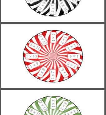 Multiplication circles 1 – 12