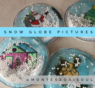Snow globe craft templates