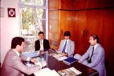 Primeros tiempos del colegio, con Fernando Díaz, Pedro Presno y Juan José Fraschini