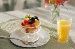 breakfast parfait at a Bed and Breakfast Norman Oklahoma