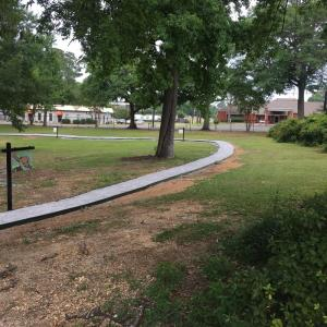 Walkways are installed