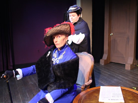 The countess of Mordrid (Laura Cox) and the maid Betsy (Anne Vandercook)