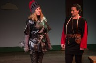 Knight (MollyBeth Rushfield) and Squire (Samantha Fraction). Photo Credit Nicole Albee.