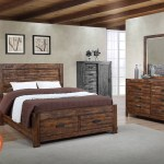 Rustic 4 Piece Bedroom Set Full