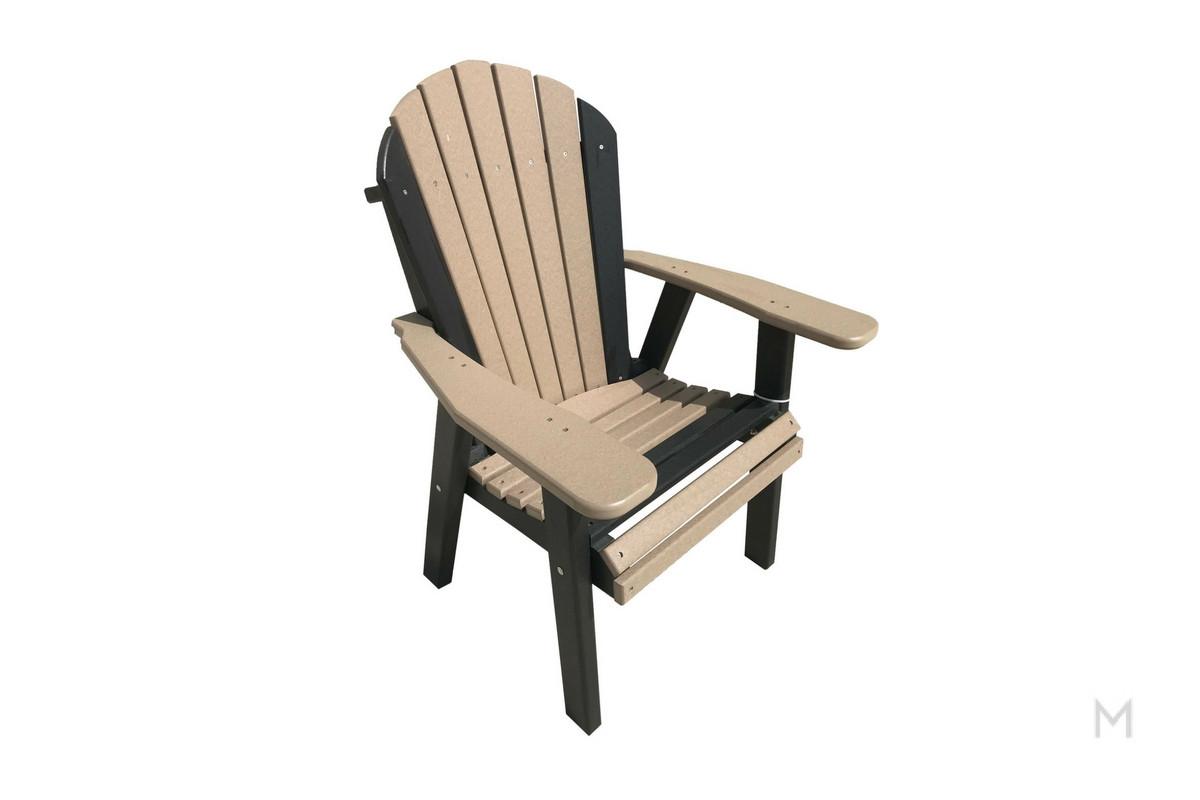 weatherwood with black patio chair