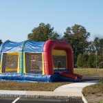The moon bounce was a hit.