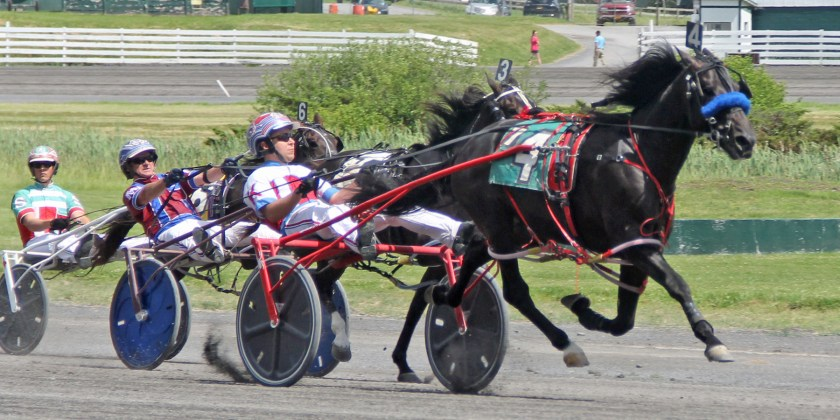 Groovy Joe (Matt Kakaley) won their division of Sire Stakes Monday July 1 at Monticello Raceway in 1:56.4