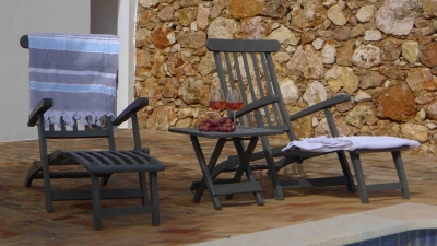 Montinho B&B Pool deckchairs