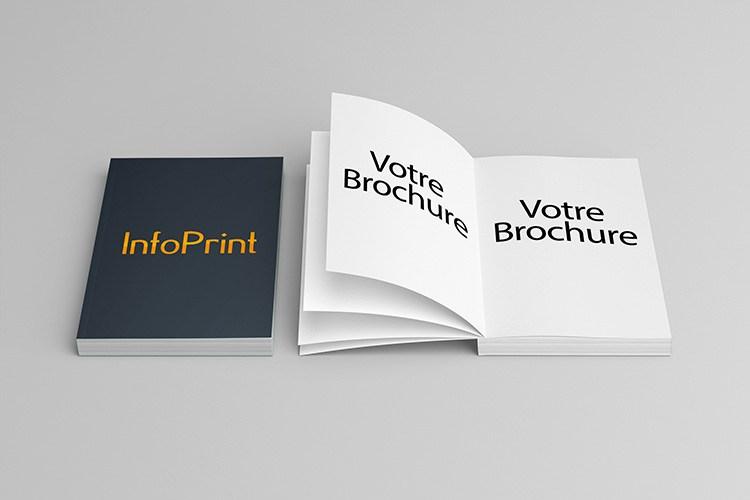 Dos Carré collé imprimé à Montpellier