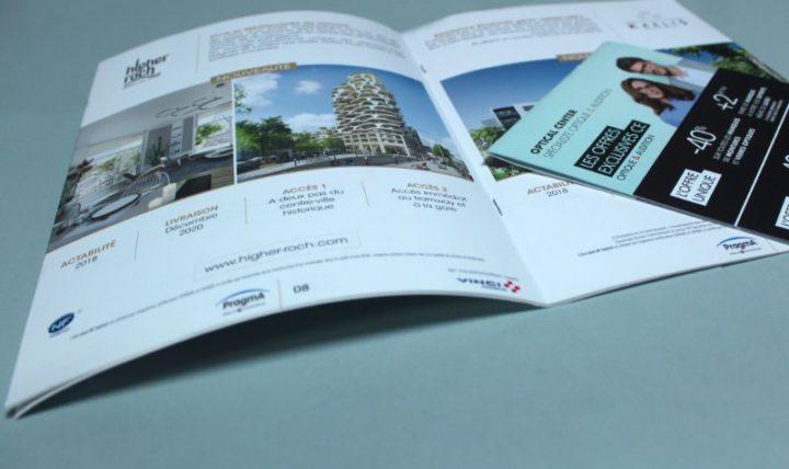 Impression brochure 2 points métal à Montpellier