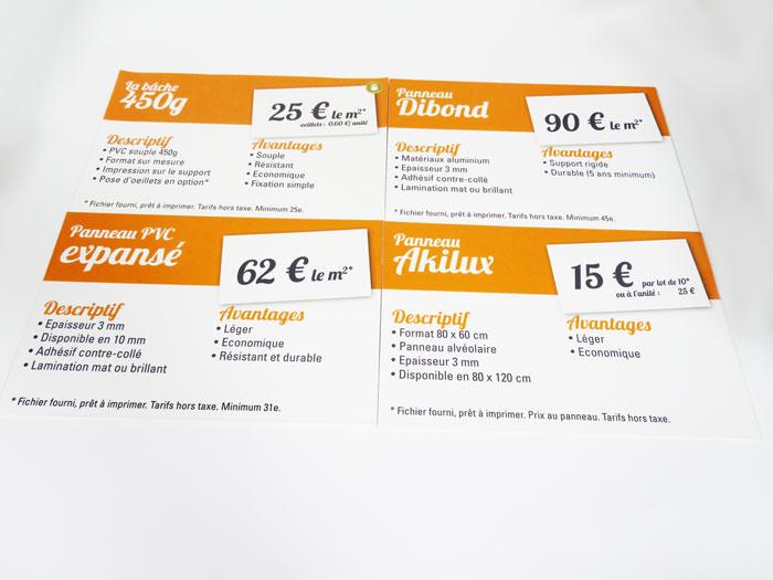 imprimer signalétique au centre de Montpellier