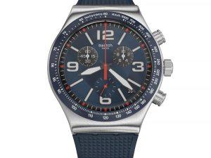 Montre Swatch BLUE GRID YVS454 pour HOMME