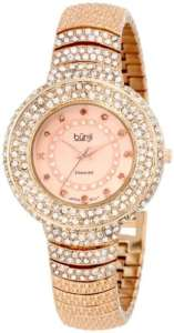 Burgi Femme Diamant Accent Cristaux Fashion Montre
