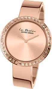 Jacques – Lemans – Montre – Analogique – Quartz – Femme – Bracelet – Acier inoxydable – Doré