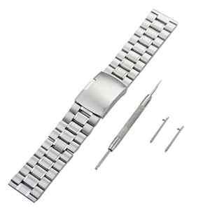 Panegy Montre Bracelet Remplaçable pour FITBIT BLAZE en Acier Inoxydable avec Outils – Argent