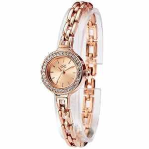 George Smith 22 mm Autrichienne cristal cadran montre bracelet femme avec bracelet en acier inoxydable