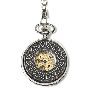 Mullingar Pewter Stainless Steel Mechanical Watch Pocket Watch With 1916 Design